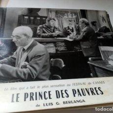 Cine: FOTOGRAMA EN FRANCE DE BERLANGA LE PRINCE DES PAUVRES MEDIDA 23X30 ORIGINAL. Lote 287472748