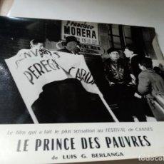 Cine: FOTOGRAMA EN FRANCE DE BERLANGA LE PRINCE DES PAUVRES MEDIDA 23X30 ORIGINAL. Lote 287472873