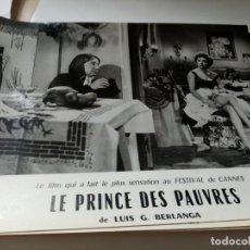 Cine: FOTOGRAMA EN FRANCE DE BERLANGA LE PRINCE DES PAUVRES MEDIDA 23X30 ORIGINAL. Lote 287472968