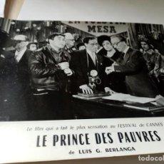 Cine: FOTOGRAMA EN FRANCE DE BERLANGA LE PRINCE DES PAUVRES MEDIDA 23X30 ORIGINAL. Lote 287473143