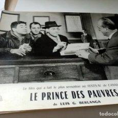 Cine: FOTOGRAMA EN FRANCE DE BERLANGA LE PRINCE DES PAUVRES MEDIDA 23X30 ORIGINAL. Lote 287473233