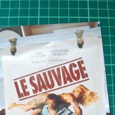 Cine: LE SAUVAGE YVES MONTAND CATHERINE DENEUVE JEAN PAUL RSPOENEAU JEAN LOUP DABADIE. Lote 287482563