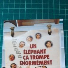 Cine: CARTEL PÓSTER AFICHE ORIGINAL UN ELEPHANT CA TROMPE ENORMEMENT YVES ROBERT 80X60 BUENO ESTADO 597. Lote 287483448