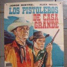 Cine: CDO M202 LOS PISTOLEROS DE CASA GRANDE ALEX NICOL JORGE MISTRAL SPAGHETTI POSTER ORIG 70X100 ESTRENO. Lote 287578038