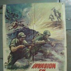 Cine: CDO M206 INVASION EN BIRMANIA SAMUEL FULLER POSTER ORIGINAL 70X100 ESTRENO. Lote 287583488