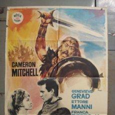 Cine: CDO M213 LOS NORMANDOS CAMERON MITCHELL PEPLUM MAC POSTER ORIGINAL 70X100 ESTRENO. Lote 287590168