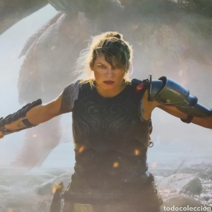 Cine: Gran lona - banner, publicidad de cine, Monster Hunter con Milla Jovovich, año 2020, 3mts x 1,60mts - Foto 2 - 287646193