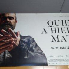 Cine: GRAN LONA - BANNER, PUBLICIDAD DE CINE, QUIEN A HIERRO MATA CON LUIS TOSAR, AÑO 2019, 3MTS X 1,60MTS. Lote 287647973