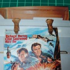 Cine: RICHARD BURTON CKINT EASTWOOD MARY URO QUAND LES AIGKES ATTAWUENT 1968 718. Lote 287653958