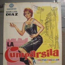 Cine: CDO M224 LA CUMPARSITA MARUJITA DIAZ CARLOS ESTRADA CINE ESPAÑOL POSTER ORIGINAL 70X100 ESTRENO. Lote 287662243