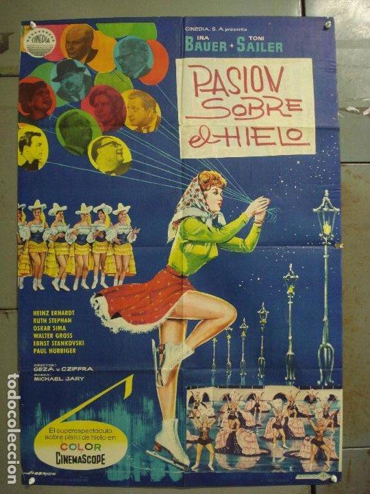 CDO M227 BAILANDO LLEGO EL AMOR INA BAUER TONI SAILER PATINAJE POSTER ORIGINAL 70X100 ESTRENO (Cine - Posters y Carteles - Musicales)