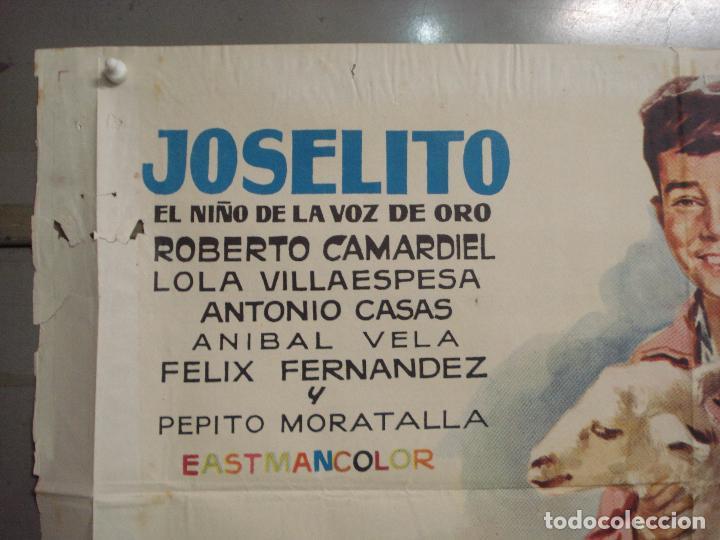 Cine: CDO M240 EL RUISEÑOR DE LAS CUMBRES JOSELITO JANO POSTER ORIGINAL 70X100 ESTRENO - Foto 2 - 287685603