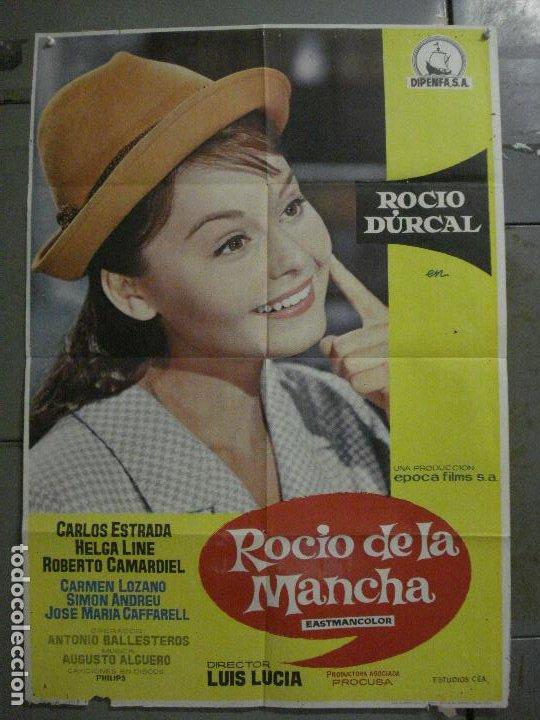 CDO M244 ROCIO DE LA MANCHA ROCIO DURCAL LUIS LUCIA POSTER ORIGINAL 70X100 ESTRENO (Cine - Posters y Carteles - Clasico Español)