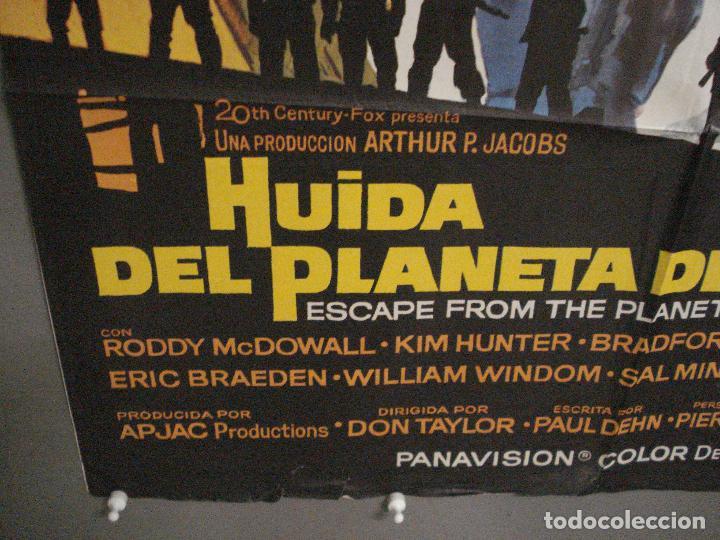 Cine: CDO M245 HUIDA DEL PLANETA DE LOS SIMIOS POSTER MAC ORIGINAL 70X100 ESTRENO - Foto 5 - 287696948