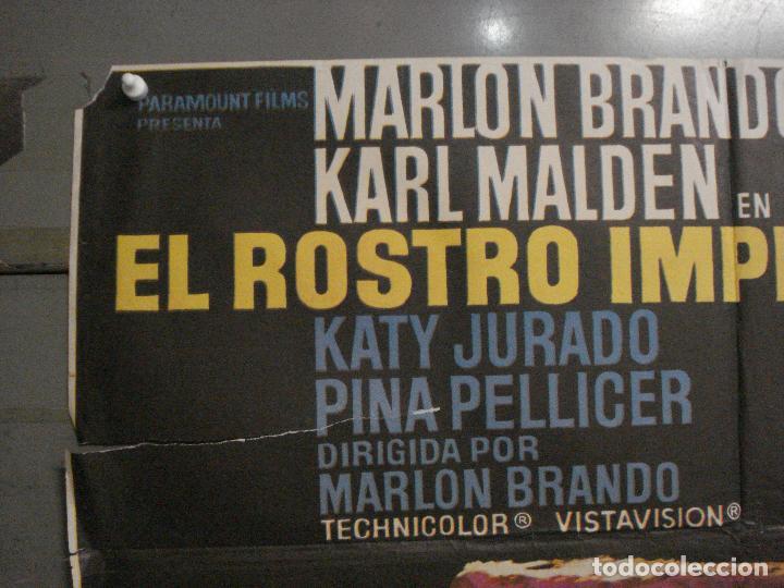 Cine: CDO M246 EL ROSTRO IMPENETRABLE MARLON BRANDO MAC POSTER ORIGINAL 70X100 ESPAÑOL r-72 - Foto 2 - 287698223