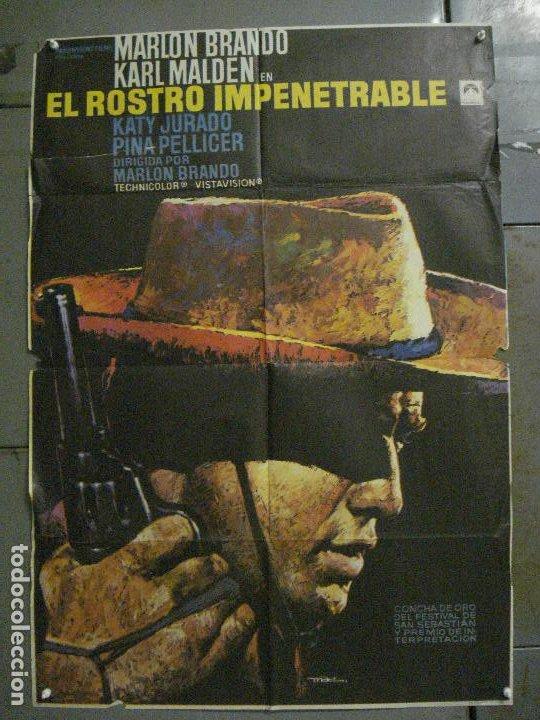 CDO M246 EL ROSTRO IMPENETRABLE MARLON BRANDO MAC POSTER ORIGINAL 70X100 ESPAÑOL R-72 (Cine - Posters y Carteles - Westerns)