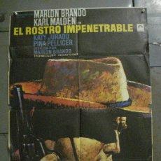 Cine: CDO M246 EL ROSTRO IMPENETRABLE MARLON BRANDO MAC POSTER ORIGINAL 70X100 ESPAÑOL R-72. Lote 287698223