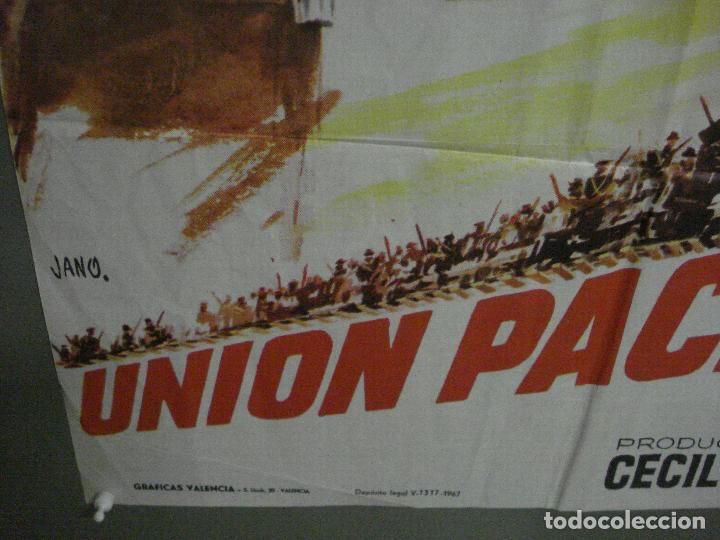 Cine: CDO M248 UNION PACIFICO CECIL B DEMILLE BARBARA STANWYCK POSTER ORIGINAL 70X100 ESPAÑOL - Foto 5 - 287699103