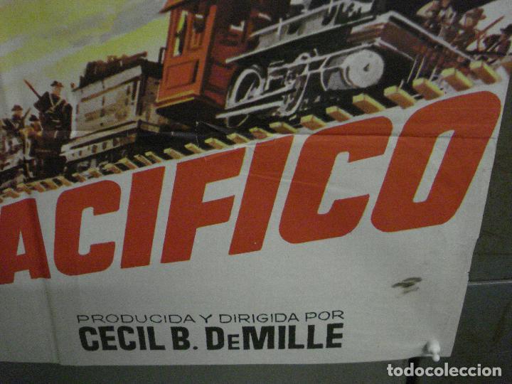 Cine: CDO M248 UNION PACIFICO CECIL B DEMILLE BARBARA STANWYCK POSTER ORIGINAL 70X100 ESPAÑOL - Foto 9 - 287699103