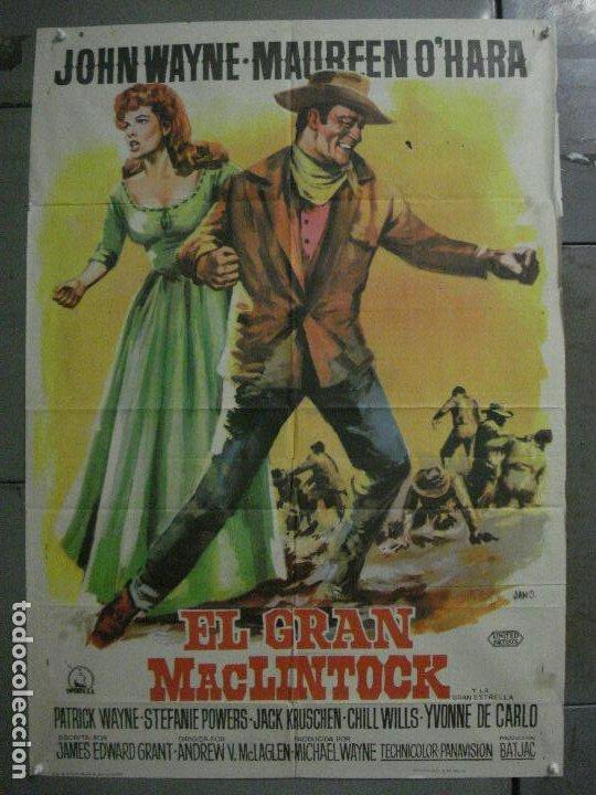 CDO M250 EL GRAN MACLINTOCK JOHN WAYNE MAUREEN O'HARA JANO POSTER ORIGINAL 70X100 ESTRENO (Cine - Posters y Carteles - Westerns)