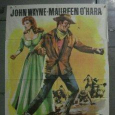 Cine: CDO M250 EL GRAN MACLINTOCK JOHN WAYNE MAUREEN O'HARA JANO POSTER ORIGINAL 70X100 ESTRENO. Lote 287700858