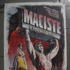 Cine: CDO M273 MACISTE EL COLOSO GORDON MITCHELL PEPLUM ALE POSTER ORIGINAL 70X100 ESTRENO. Lote 287708928