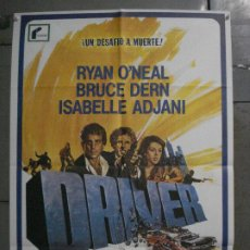 Cine: ABK23 DRIVER WALTER HILL RYAN O'NEAL ISABELLE ADJANI COCHES POSTER ORIGINAL 70X100 R-72. Lote 287717728