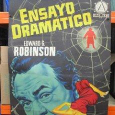 Cine: ENSAYO DRAMATICO - EDWARD G ROBINSON - CARTEL / POSTER ORIGINAL - 100 X 70. Lote 287735378