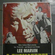 Cine: CDO M295 A QUEMARROPA LEE MARVIN ANGIE DICKINSON POSTER ORIGINAL ESTRENO 70X100. Lote 287736828
