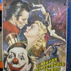 Cine: CARTEL ORIGINAL DE EPOCA - EL MAYOR ESPECTACULO DEL MUNDO - CHARLTON HESTON - 100 X 70. Lote 287737293