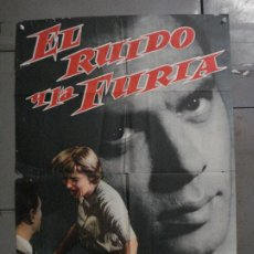 Cine: CDO 298 EL RUIDO Y LA FURIA YUL BRYNNER JOANNE WOODWARD POSTER ORIGINAL ESTRENO 70X100. Lote 287739763