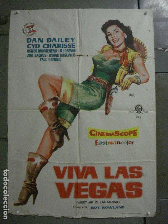 CDO M302 VIVA LAS VEGAS CYD CHARISSE MEET ME IN LAS VEGAS JANO POSTER ORIGINAL ESTRENO 70X100 (Cine - Posters y Carteles - Musicales)