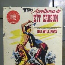 Cine: CDO M319 LAS AVENTURAS DE KIT CARSON BILL WILLIAMS INDIOS POSTER ORIGINAL 50X55 ESTRENO LITOGRAFIA. Lote 287742333