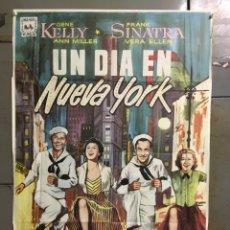 Cine: CDO M315 UN DIA EN NUEVA YORK GENE KELLY FRANK SINATRA ALVARO POSTER ORIGINAL 70X100 ESPAÑOL R-68. Lote 287743453