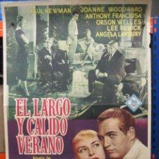 Cine: CARTEL ORIGINAL DE EPOCA - EL LARGO Y CALIDO VERANO - PAUL NEWMAN - ORSON WELLES - 100 X 70. Lote 287748643