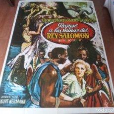 Cine: REGRESO A LAS MINAS DEL REY SALOMÓN - GEORGE MONTGOMERY, TAINA ELG - POSTER ORIGINAL MAHIER 1975. Lote 287757618