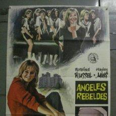 Cine: CDO M324 ANGELES REBELDES HAYLEY MILLS ROSALIND RUSSELL ESCOBAR POSTER ORIGINAL 70X100 ESTRENO. Lote 287758723
