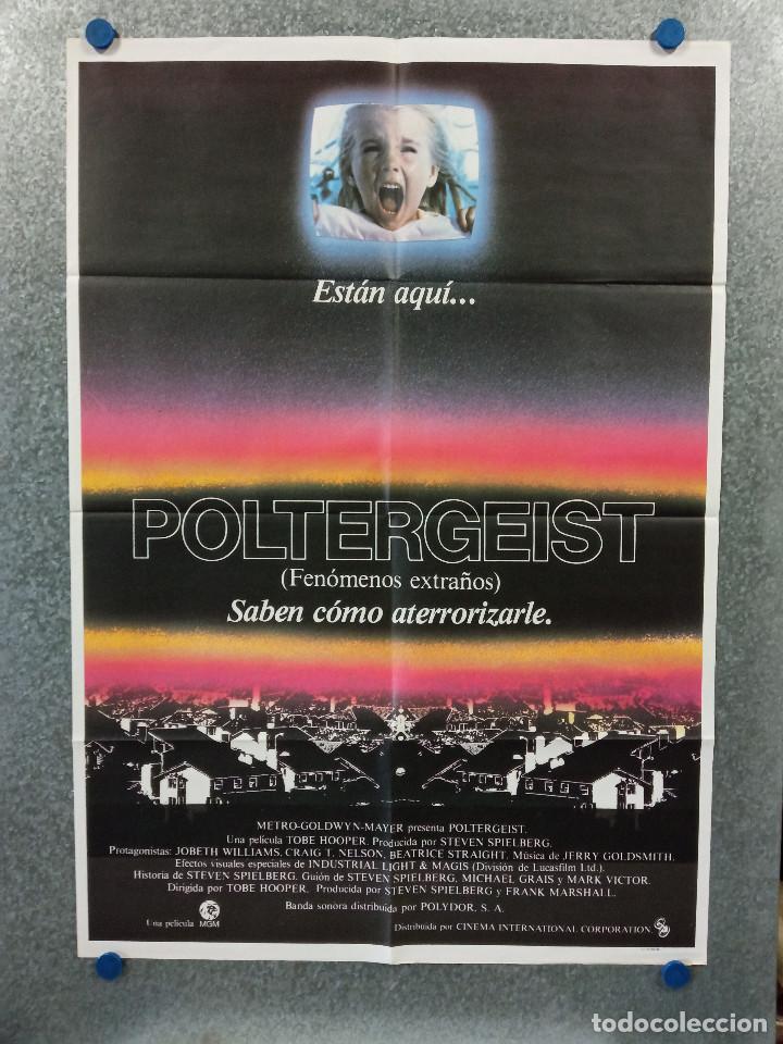 POLTERGEIST, FENOMENOS EXTRAÑOS. JOBETH WILLIAMS, CRAIG T. NELSON AÑO 1982. POSTER ORIGINAL (Cine - Posters y Carteles - Terror)