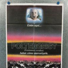 Cine: POLTERGEIST, FENOMENOS EXTRAÑOS. JOBETH WILLIAMS, CRAIG T. NELSON AÑO 1982. POSTER ORIGINAL. Lote 287770963