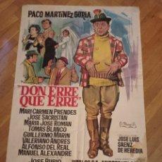 Cine: ANTIGUO CARTEL DE CINE ORIGINAL AÑOS 60 DON ERRE QUE ERRE. Lote 287797438