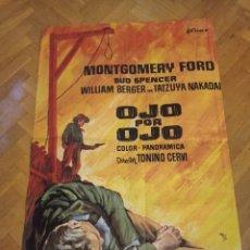 Cine: ANTIGUO CARTEL DE CINE ORIGINAL AÑOS 60 OJO POR OJO. Lote 287797923