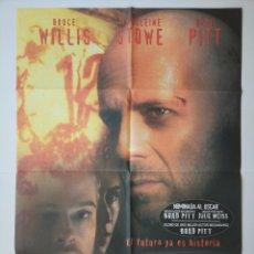 Cine: CARTEL CINE ORIGINAL: 12 MONOS - 1995. Lote 287813883