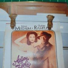 Cine: ADIEU MA JOLIE RAYMOND CHANDLER RIBER MITCHUM CHARLOTTE RAMPLIM CARTEL PÓSTER AFICHE 682. Lote 287832188