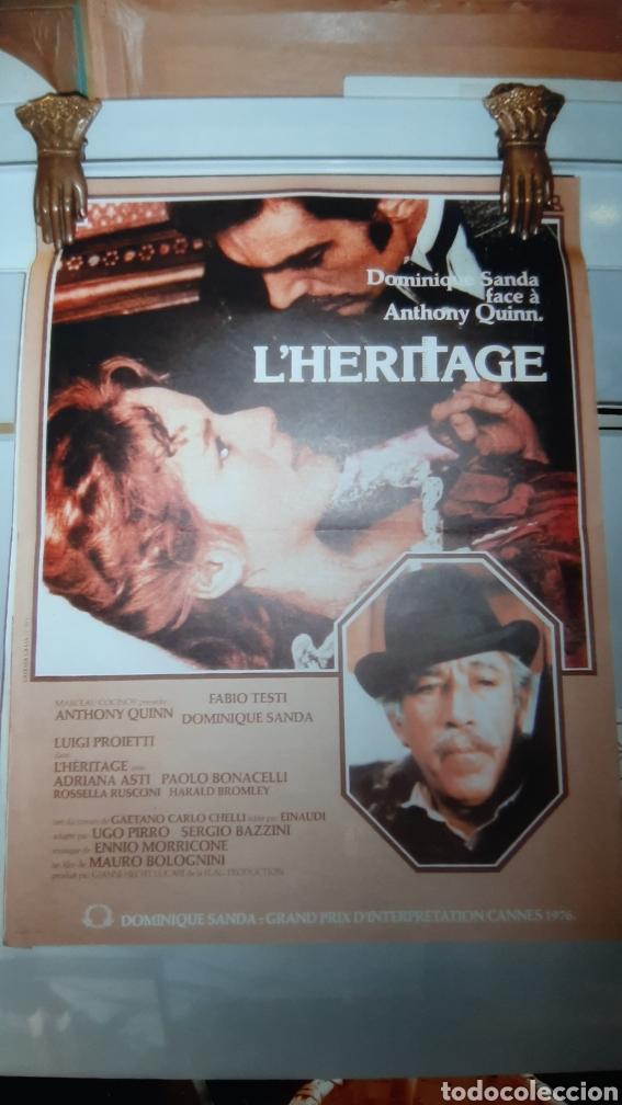1975 L'HERITAGE DOMINIQUE SANDA ANTHONY QUINN CARTEL 676 BUENO ESTADO (Cine - Posters y Carteles - Suspense)