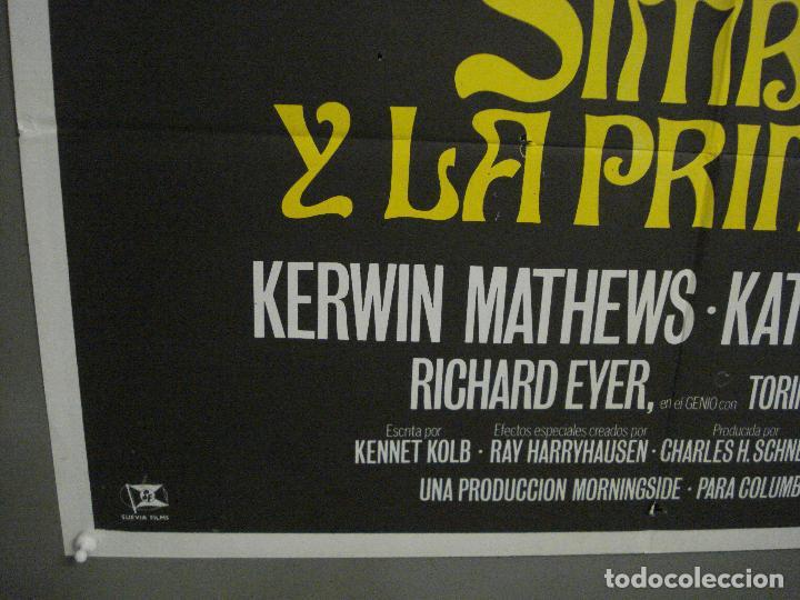Cine: CDO M339 SIMBAD Y LA PRINCESA RAY HARRYHAUSEN KERWIN MATHEWS POSTER ORIGINAL ESPAÑOL 70X100 R-70S - Foto 5 - 287852158