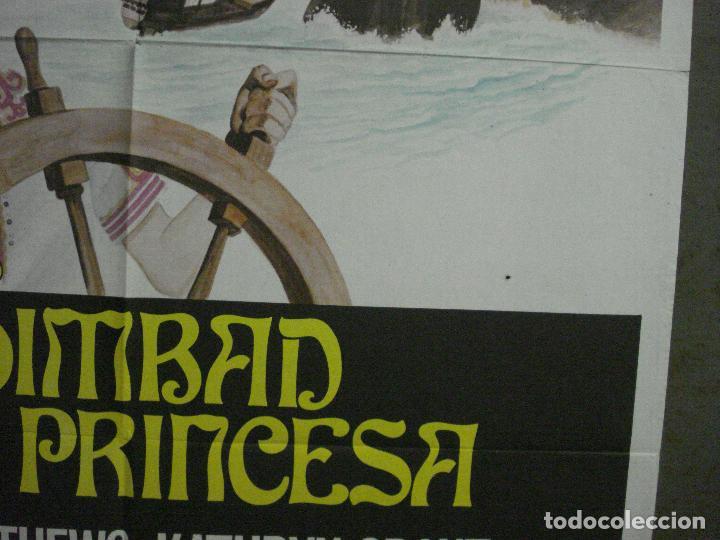 Cine: CDO M339 SIMBAD Y LA PRINCESA RAY HARRYHAUSEN KERWIN MATHEWS POSTER ORIGINAL ESPAÑOL 70X100 R-70S - Foto 8 - 287852158