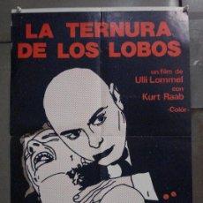 Cine: CDO M354 LA TERNURA DE LOS LOBOS ULLI LOMMEL KURT RAAB POSTER ORIGINAL 50X70 ESTRENO. Lote 287867673