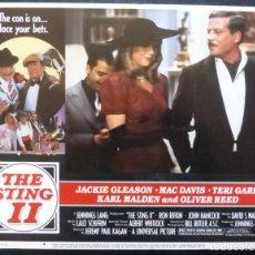 Cine: THE STING II LOBBY CARD,USA,AÑO 1982,UNIVERSAL, JACKIE GLEASON Nº 4. Lote 287897533