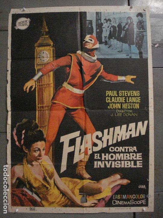 CDO M363 FLASHMAN CONTRA EL HOMBRE INVISIBLE JANO POSTER ORIGINAL 70X100 ESTRENO (Cine - Posters y Carteles - Ciencia Ficción)