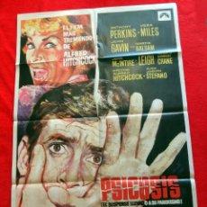 Cine: PSICOSIS CARTEL ORIGINAL EN PERFECTO ESTADO ANTHONY PERKINS ALFRED HITCHCOCK. Lote 287910958